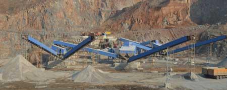 石灰石生产线 石灰石生产线配置流程 石料生产线 中誉鼎力矿山