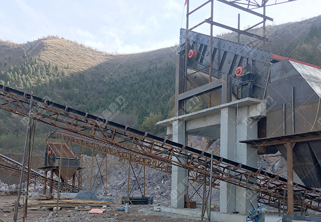 时产500吨石子生产线流程