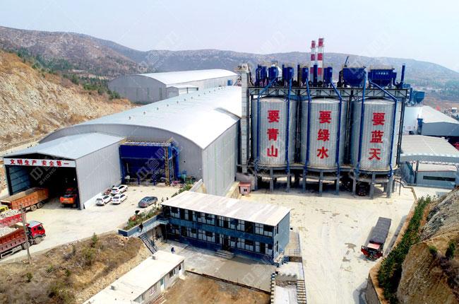 河北武安火焰山时产800吨砂石骨料生产线