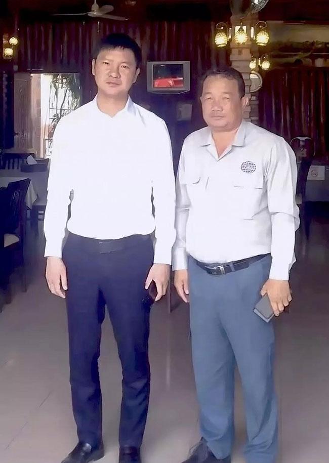 柬埔寨三星将军NIM MENG接待张治民董事长