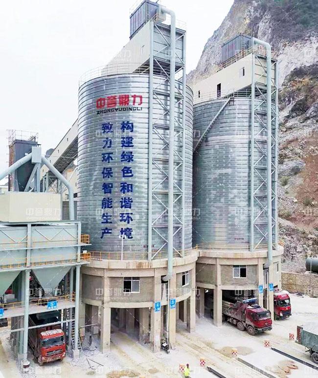 中誉鼎力承建桂林市金山化工年产500万吨石灰石砂石骨料生产线成功试运行