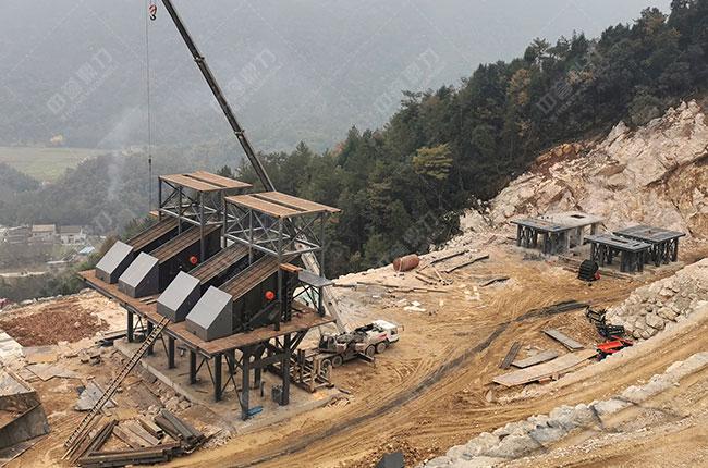 四川省南方矿业有限公司时产1500吨砂石破碎线现场