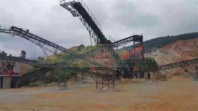 陕西石灰岩生产线现场图片