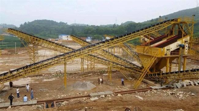 贵州时产450吨中佳搅拌站砂石生产线图