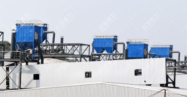 卫辉市天然资源有限公司时产3000吨骨料生产线除尘