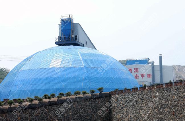卫辉市天然资源有限公司时产3000吨骨料生产线储料仓