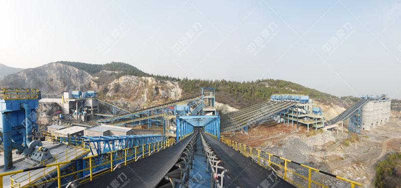 中联水泥时产2500吨骨料生产线