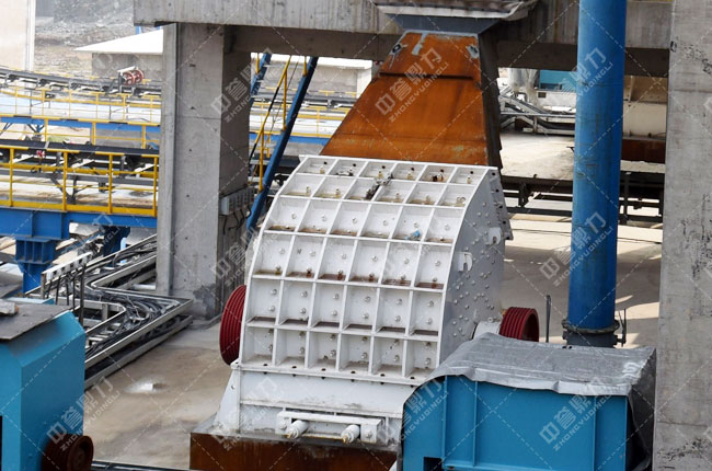 中联水泥时产2500吨骨料生产线二破
