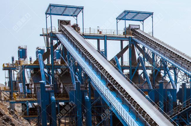 中联水泥时产2500吨骨料生产线筛分