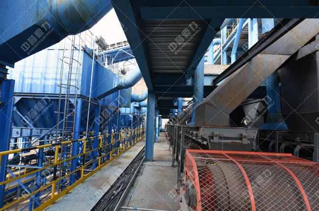 中联水泥时产2500吨骨料生产线除尘