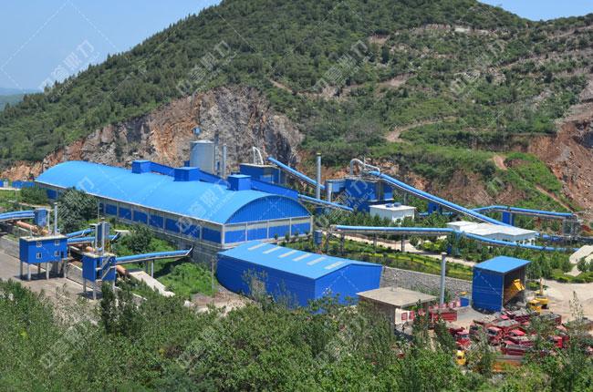 嵩基水泥时产2000吨骨料生产线