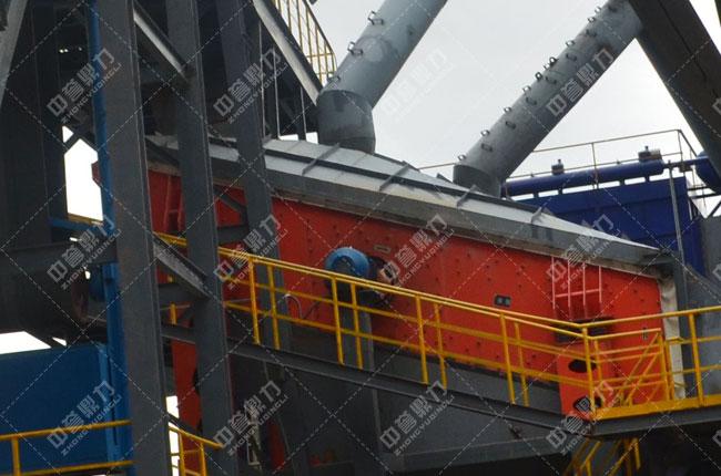 春江水泥时产1500吨骨料生产线净料筛分1