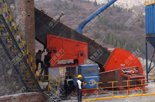 安阳中联水泥时产1500吨骨料生产线头破