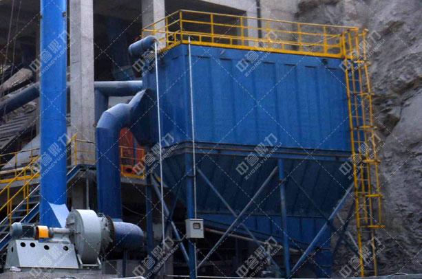 安阳中联水泥时产1500吨骨料生产线筛分除尘