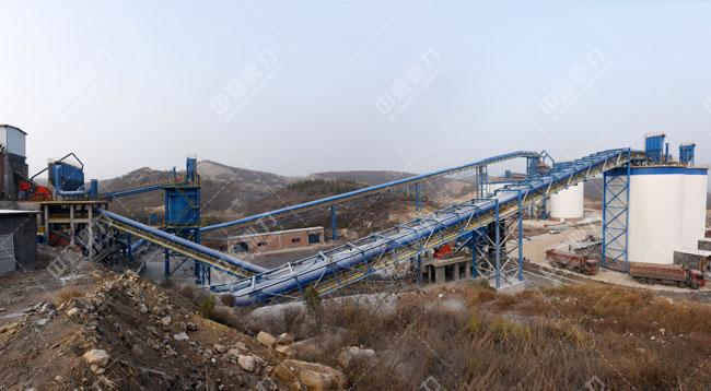 安阳中联水泥时产1500吨骨料生产线