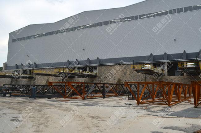 河北白沙时产3000吨石料生产线出料