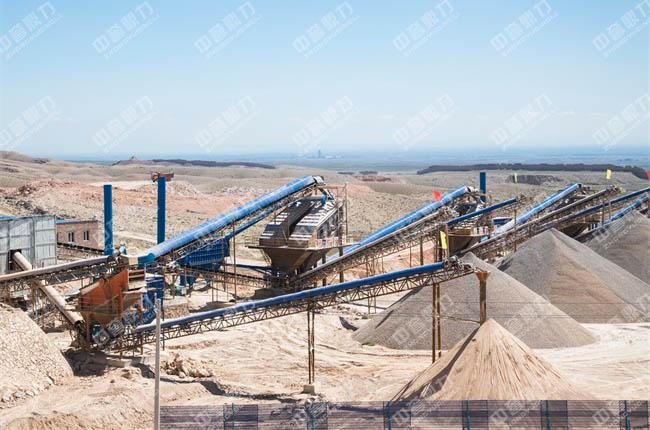 建好的石料厂现场