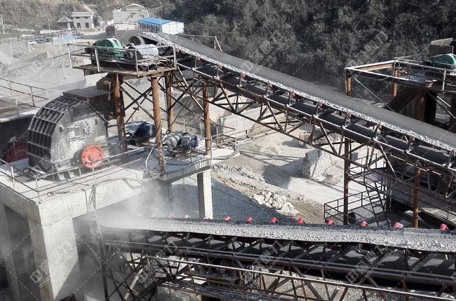 湖北宜昌鸿涛采石场时产700吨砂石生产线