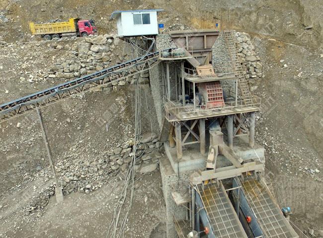 内江市威远县加利矿业时产500-600吨砂石料生产线