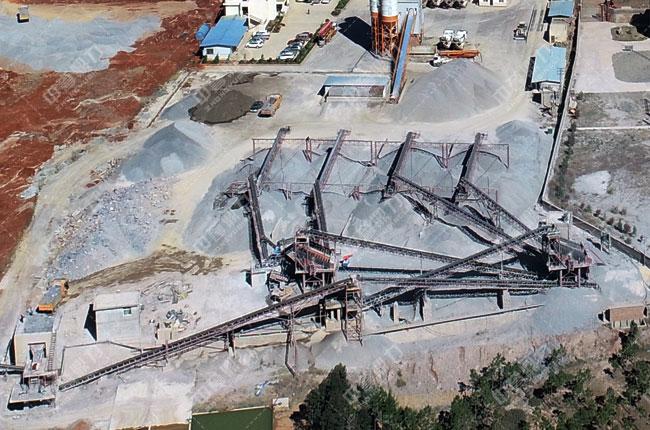 凉山州盐源县世宇混凝土时产300吨骨料生产线