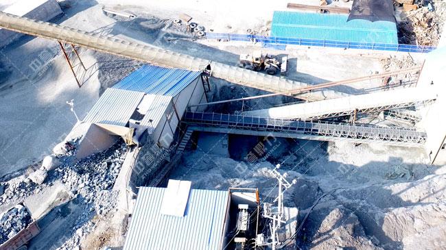 陕西岚皋县平溪石料厂时产300吨生产线