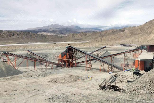 中交隧道工程局有限公司时产150吨碎石生产线