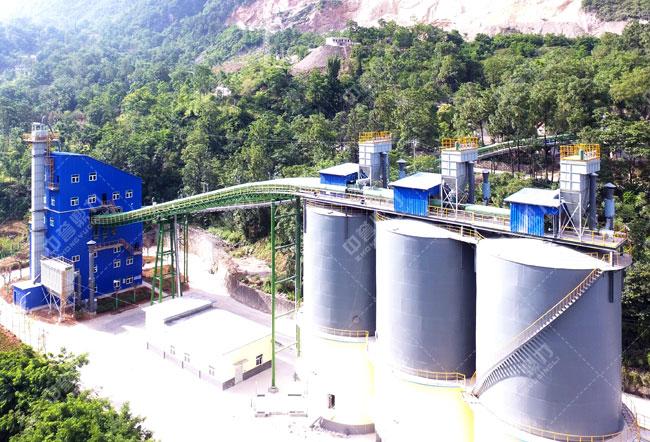 商洛尧柏秀山水泥有限公司时产500吨骨料生产线