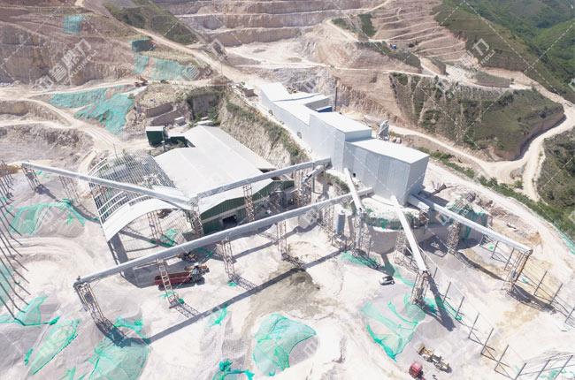 陕西省铜川市弘鑫钙业有限公司时产600-800吨砂石生产线