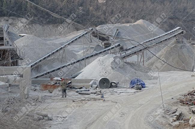 湖北省丹江口市羊山鑫兰矿业时产700-900吨砂石生产线