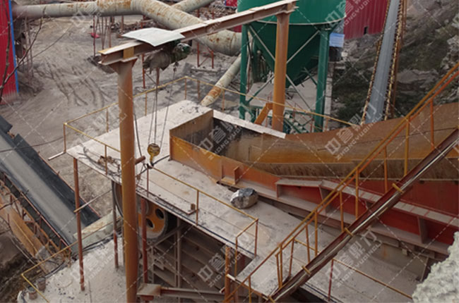 湖北省宜都市大水桥采石场时产1200吨砂石生产线