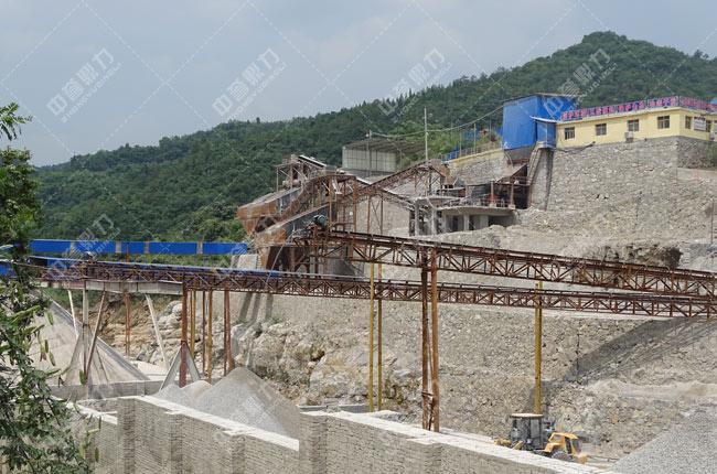 湖北省宜昌市鸿涛采石场时产600吨骨料生产线