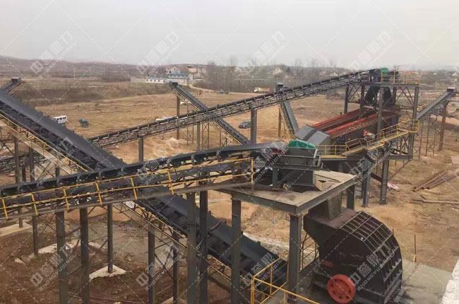湖北随州广水时产800吨砂石生产线
