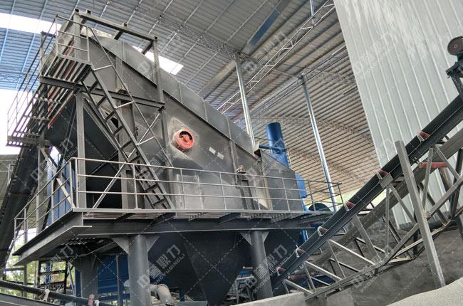 湖南常德时产60-100吨制砂生产线