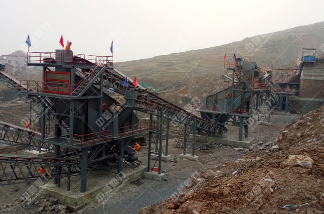 湖南衡阳日产2000-2500吨砂石生产线