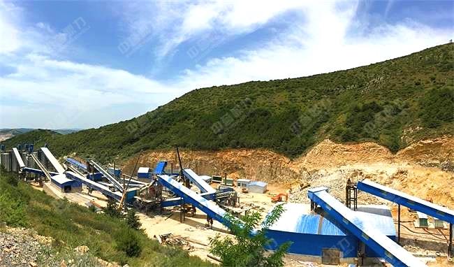 加工建筑石料用灰岩的碎石厂